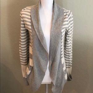 Silence + Noise Women's Striped Shawl Cardigan